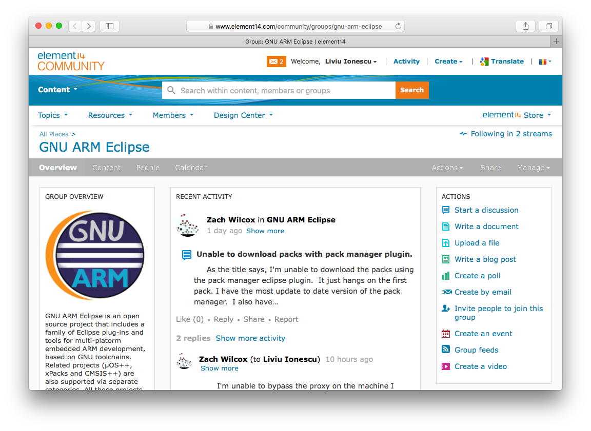 GNU ARM Eclipse forum